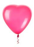 Globos rojos del corazón Foto de archivo