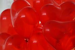 Globos rojos del corazón Imágenes de archivo libres de regalías