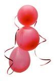 Globos rojos del partido Fotografía de archivo