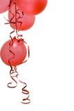 Globos rojos del partido Fotos de archivo libres de regalías