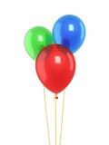 Globos rojos del verde azul Imagen de archivo libre de regalías