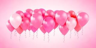 Globos rosados del partido Imagen de archivo