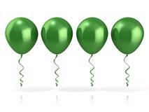 Globos verdes Foto de archivo libre de regalías