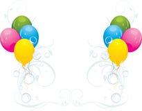 Globos y burbujas coloridos. Composición festiva Imágenes de archivo libres de regalías