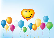 globos y corazón Imágenes de archivo libres de regalías