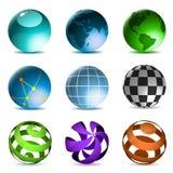 Globos y esferas stock de ilustración