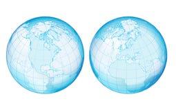 globu przejrzystości dwa boczne ilustracja wektor