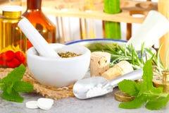 Globula produkują, homeopatia Zdjęcie Royalty Free