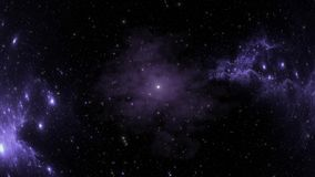 Globular nebula after supernova explosion in deep space stock footage
