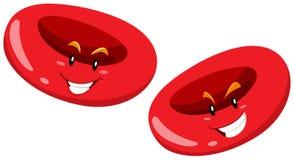 Globule rouge avec le visage heureux Photographie stock