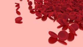 Globule rouge d'isolement sur le fond rose photo libre de droits