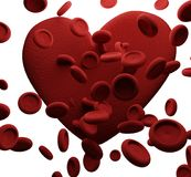 Globuli 3D-Illustration del cuore Illustrazione di Stock