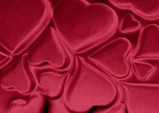 Globuli rossi del cuore Fotografia Stock Libera da Diritti