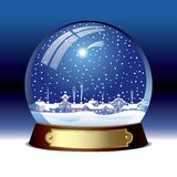 - globus śnieg Obraz Royalty Free