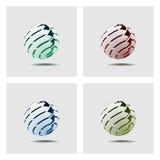 - globus abstrakcyjna Ilustracji