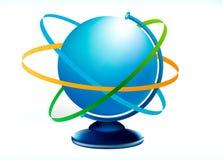 Globus blu Fotografia Stock