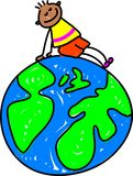 - globus dzieciaku Zdjęcie Stock