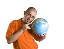 - globus ludzi Obrazy Stock