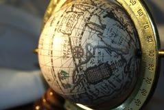 Globus op wit Stock Fotografie