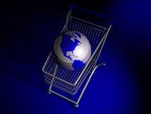 - globus wózka Zdjęcia Stock