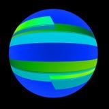 - globus wstążki Obrazy Stock