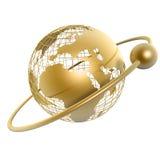 - globus złota royalty ilustracja