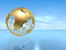 - globus złota Fotografia Stock