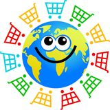 - globus zakupy royalty ilustracja