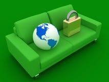 - globus zamek Zdjęcie Royalty Free