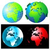 globusy ilustracja wektor