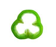 Glocke des grünen Paprikas lokalisiert auf weißem Hintergrund Lizenzfreie Stockfotografie