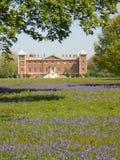 Glockenblumen an Park und an Haus Osterley lizenzfreie stockbilder