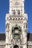 Glockenspiel στην πόλη του Μόναχου στοκ φωτογραφία με δικαίωμα ελεύθερης χρήσης