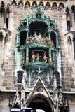 Glockenspiel στο Μόναχο, Γερμανία Στοκ Εικόνες