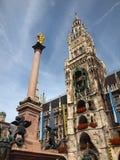 Glockenspiel de Munich Fotografia de Stock