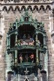 Glockenspiel em Marienplatz, Munich, 2015 imagens de stock