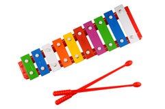 Glockenspiel isolado Fotografia de Stock Royalty Free