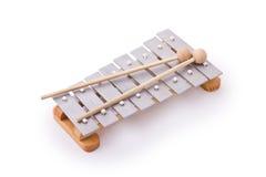 Glockenspiel isolato su bianco Immagini Stock Libere da Diritti