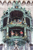 The Glockenspiel at Marienplatz, Munich, Germany Stock Images