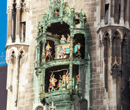 Glockenspiel on the Munich city hall Stock Photography