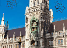 Glockenspiel on the Munich city hall Stock Photo
