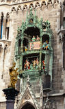 Glockenspiel on the Munich city hall Royalty Free Stock Photos