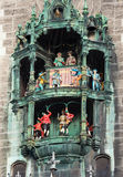 Glockenspiel on the Munich city hall Stock Images