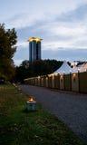 Glockenspiel-und des Tipi-morgens Kanzleramt Theater, Tiergarten, Berlin Stockfotos