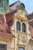 Glockenspielklocka Graz, Österrike Fotografering för Bildbyråer