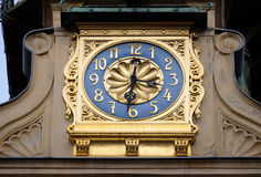 Glockenspielklocka i Graz Royaltyfri Fotografi