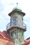 Glockenspielklok die Graz, Oostenrijk bouwen Stock Afbeelding