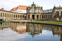 The Glockenspielpavillon (carillon pavilion) in Zwinger. Royalty Free Stock Photo