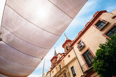 Glockentürme auf Kirche am Krankenhaus San Juan de Dios auf Piazza del Stockfotos