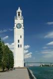 Glockenturm, alter Kanal von Montreal Stockbild